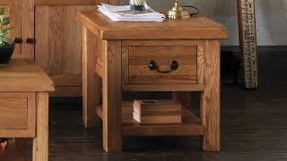 Delaware Oak Lamp Table - Pinesolutions