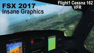 FSX DX10 | 2017 INSANE GRAPHICS | Flight1 Cessna 162 VFR over Germany
