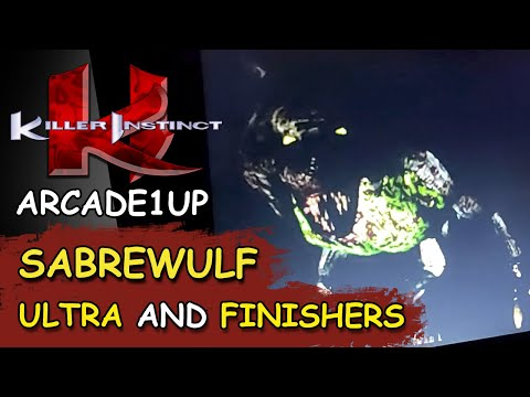 KILLER INSTINCT ARCADE1UP // SABREWULF 38 HIT ULTRA and FINISHERS from JDCgaming