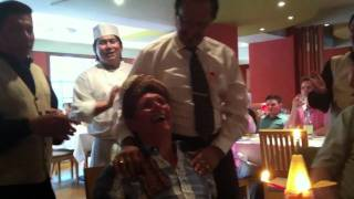Man dances to Happy Birthday song surprise in Indian Restaurant - Hilarious!