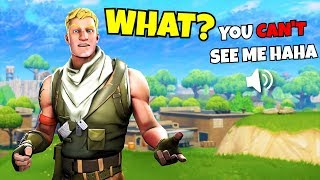 i tried to be INVISIBLE all game in fortnite ... AND WON! (Fortnite Trolling)