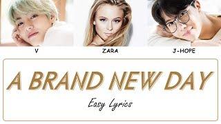 BTS - A BRAND NEW DAY (feat. ZARA LARSSON) Easy Lyrics by GOMAWO [Indo Sub]