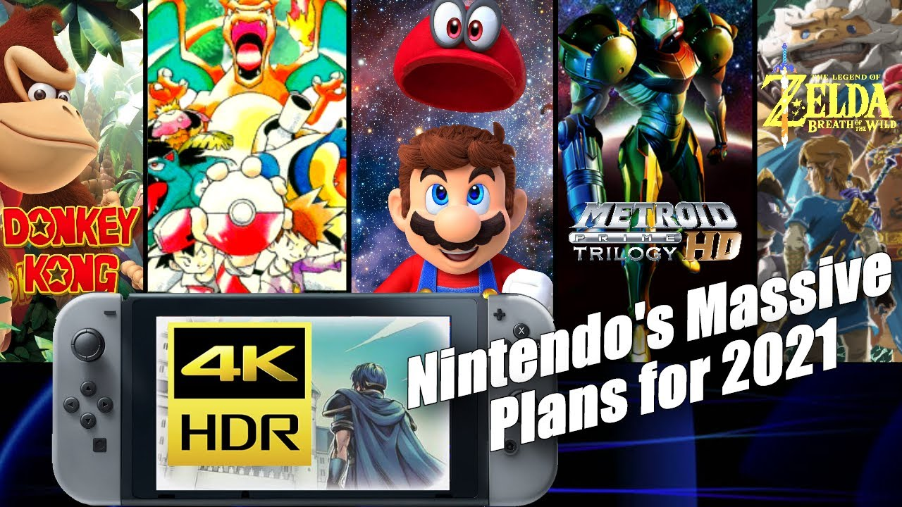 Nintendo's BIG 2021: Switch Pro 4K, Nintendo Direct, Zelda, Two Metroid, 3D Mario, & More (ft. MVG)