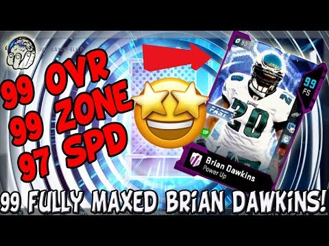 99 OVR 99 ZONE 97 SPD MAXED OUT GHOST BRIAN DAWKINS! 99 GHOST DAWKINS! Madden 19 Ultimate Team