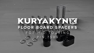 Black Kuryakyn 450 Motorcycle Foot Control Component Driver Floorboard Extension Spacers with Bolts for 1992-2008 Harley-Davidson Touring Motorcycles