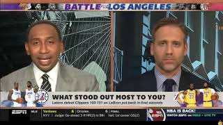 ESPN FIRST TAKE || Stephen A  on fire Lakers CRUSH Clippers, LeBron James calls AD is the X Factor