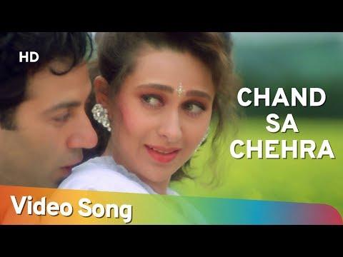 Chand Sa Chehra Jheel Si Aankhein - Ajay Songs -Sunny Deol - Karishma Kapoor - Romantic Song