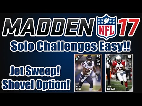 MADDEN 17 Ultimate Team Tips | How to beat Solo Challenges EASILY! | Jet Sweep + Shovel Option