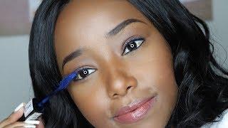 OBSSESED WITH THIS BLUE MASCARA FT. UNICE // Wabosha Maxine