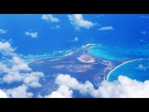 Landing in Antigua, caribbean Island HD