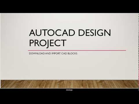 AutoCAD; Download And Import CAD Blocks