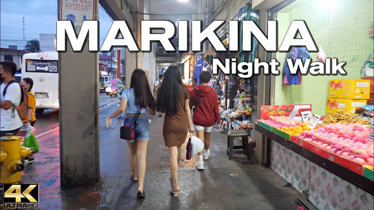 Download The LIVELY STREETS of MARIKINA Metro Manila Philippines - Night Walking Tour [4K]