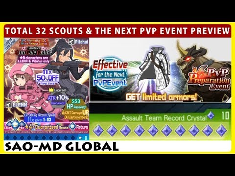 The Next PVP Event Preview, Total 32 Scouts Another Gun Gale Online & 1 MD Banner (SAOMD)