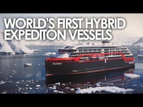 World's First Hybrid Expedition Vessel: Roald Amundsen