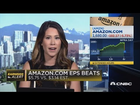 Amazon earnings fall for first time in more than two years, stock ...