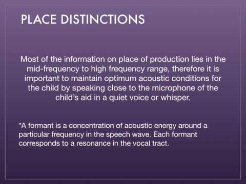 Chapter 14: Consonants: Their Acoustic Properties and Sensory Correlates