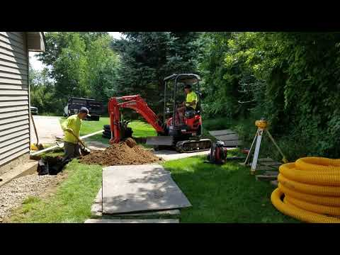 Open French Drain Moves Yard Water Faster Than Any Other Drain