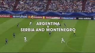 هدف الأرجنتين من 26 لمسة مونديال 2006 هيبة الأرجنتين