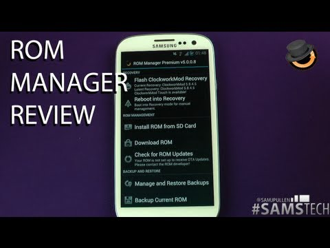 ROM Manager Review Android Root App