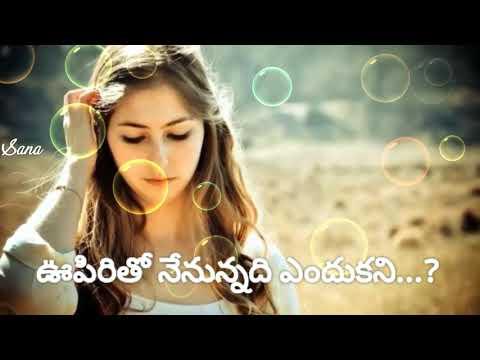 😢Nuvvika Ravani Edhalo Chappudu Female Song with Telugu Lyrics.💔