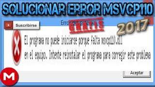 solucionar error MSVCP110.dll (windows 10, 8, 8.1, 7, vista, XP) español - Gratis 2017
