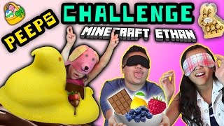EASTER MARSHMALLOW PEEPS CHALLENGE with Minecraft Ethan, Emma & Aubrey Limited Edition Flavors