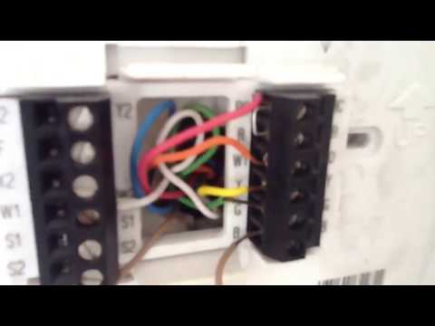 heat pump thermostat wiring youtube. Black Bedroom Furniture Sets. Home Design Ideas