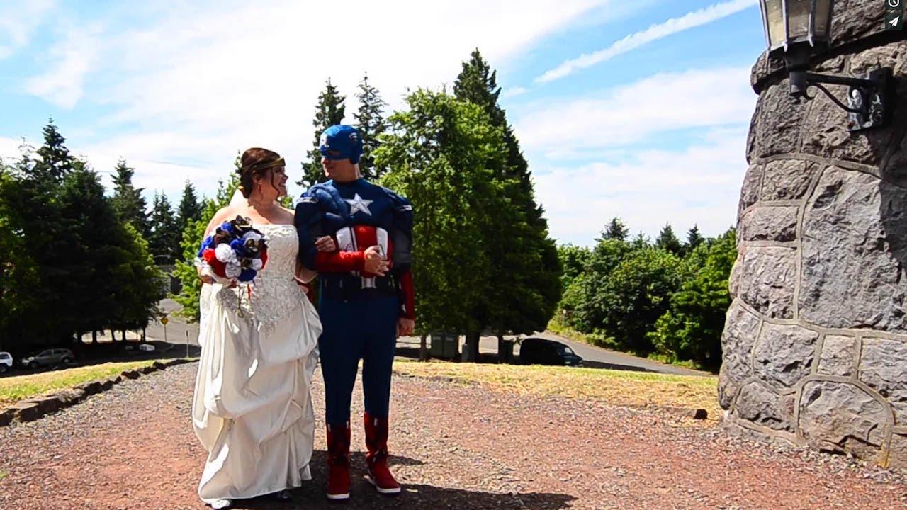 superhero wedding youtube