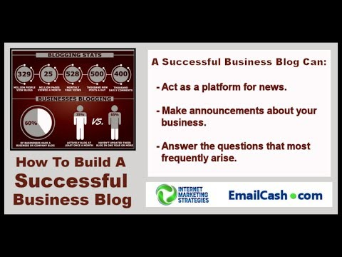 How To Build A Successful Business Blog - Internet Marketing Strategies