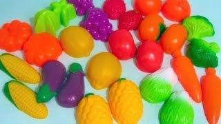 Учим цвета, название фруктов и овощей/Lesson for kids.Learn colors, names of fruits and vegetables