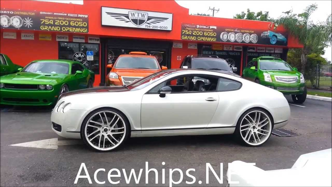 Acewhips Net Slidin The Pearl White Bentley Coupe On 24