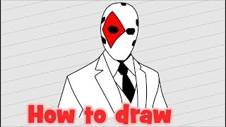 How to draw Wild Card - Fortnite characters
