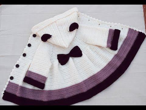 How to make a girl's crochet coat very easy