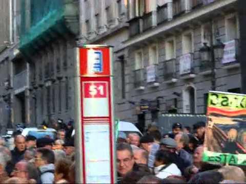 Demonstration in Madrid of Stockholders of a Fraudulent Spanish Bank (Bankia)