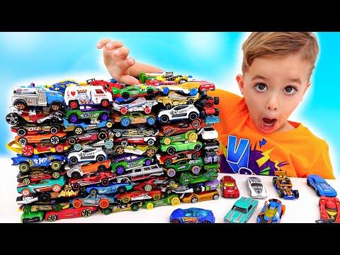 Vlad và Niki vui vẻ với ô tô đồ chơi   Thử thách chất nhờn trong thành phố Hot Wheels