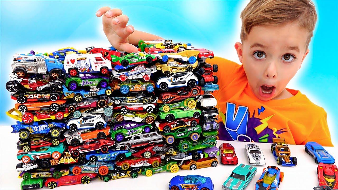 Vlad và Niki vui vẻ với ô tô đồ chơi | Thử thách chất nhờn trong thành phố Hot Wheels