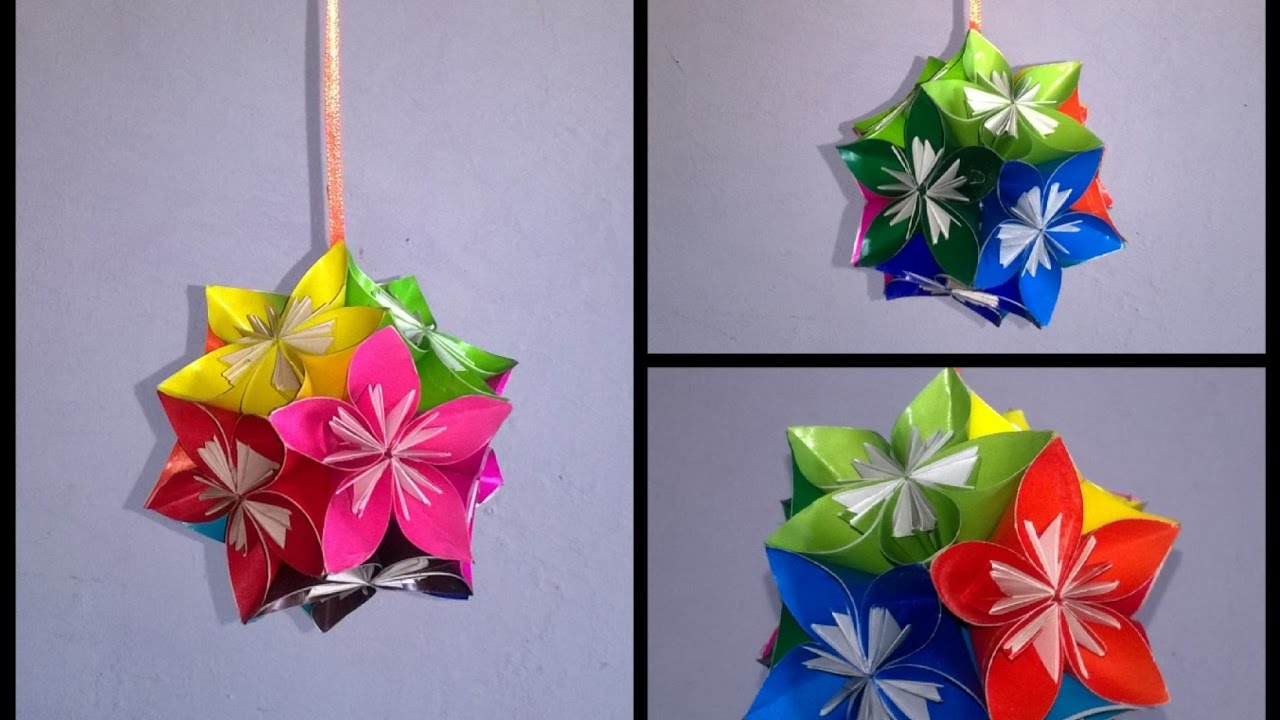 Tutorial 4 easy origami kusudama flower ball how to make tutorial 4 easy origami kusudama flower ball how to make cca dhlflorist Image collections