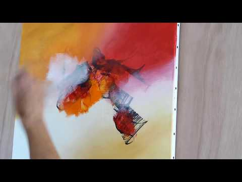 Abstract Art Painting Peinture Acrylique Facile Althea Youtube