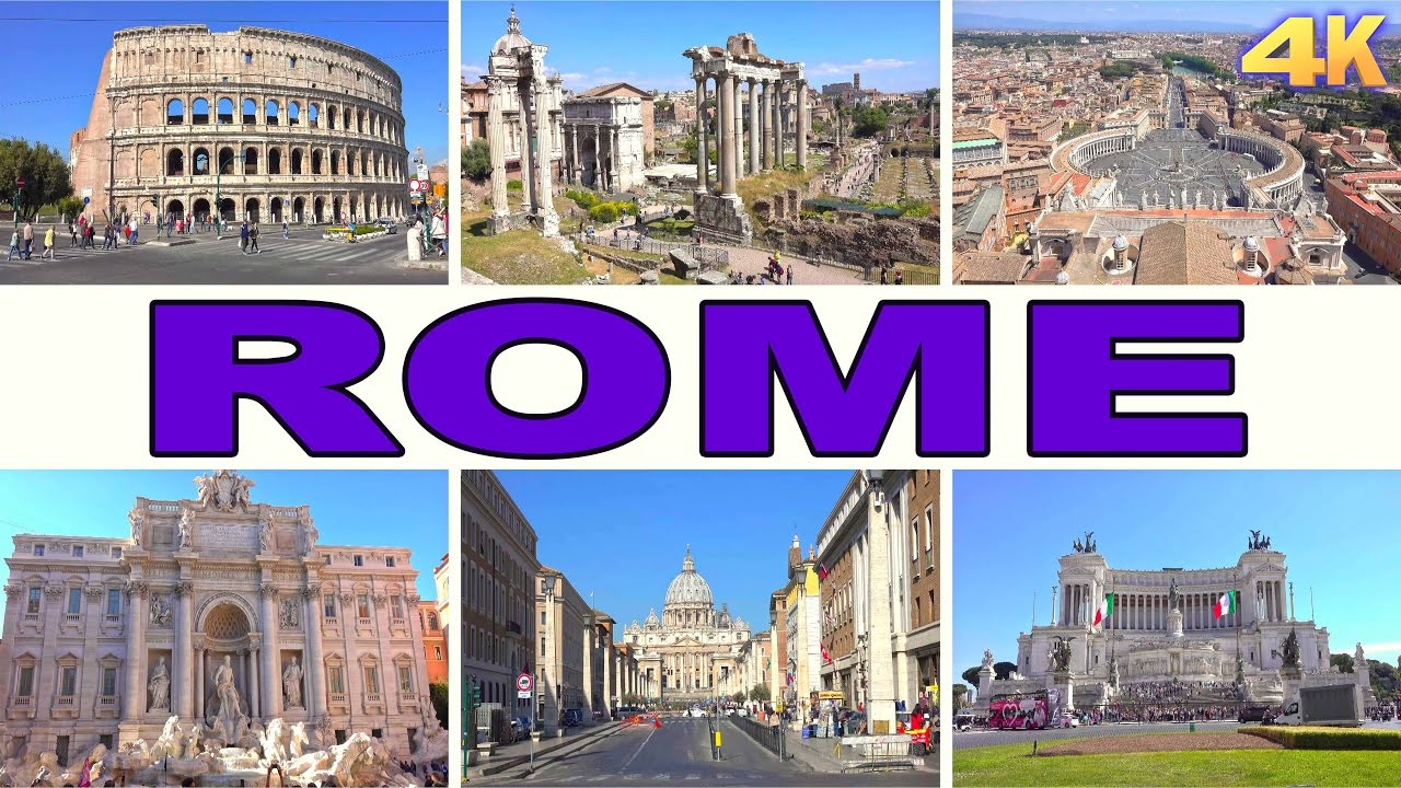 ROME - ITALY , BEST OF ROME 4K - YouTube