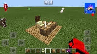 Mcpe (Minecraft PE) Dekoratif çalışma masası nasıl yapılır