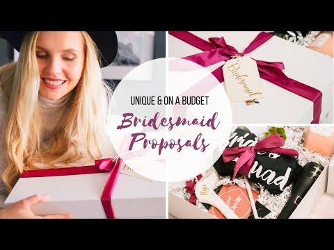 BRIDESMAID PROPOSALS - DIY | Unique & Budget Friendly Bridesmaid Gift Boxes