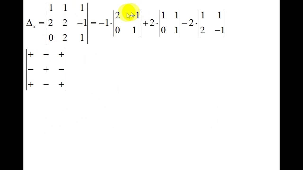 Линейная алгебра | СЛАУ | метод Крамера | конкретные ...