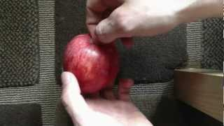 ProjectDeano - Tutorial How to split an Apple in half with your Hands! Breaking an Apple