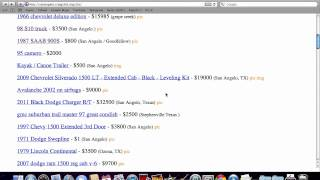 Craigslist San Angelo Texas - Used Cars And Trucks From Ford, Chevy And Dodge Online