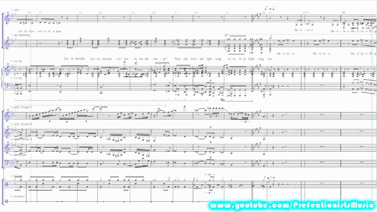 Piano Key Notes Queen Bohemian Rhapsody Sheet Music Youtube
