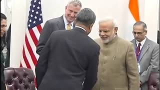 PM Narendra Modi meets New York City Mayor Bill de Blasio