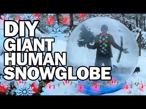 DIY Giant Human Snow Globe!!! - Man Vs Madness