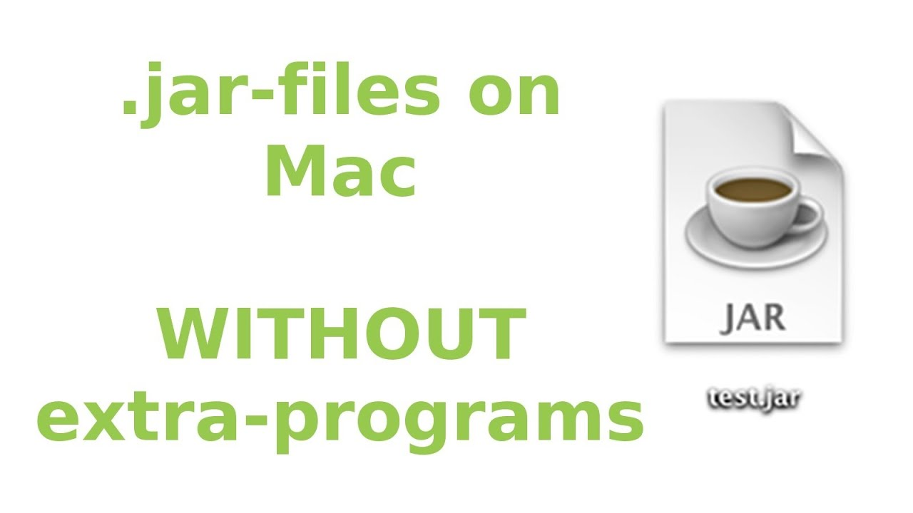 Open/edit  jar-files on Mac (WITHOUT extra-programs) ᴴᴰ