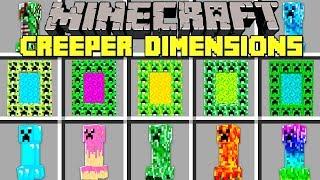 Minecraft CREEPER DIMENSIONS MOD l NOOB VS PRO CREEPER BOSS in Minecraft!! l Modded Mini-Game