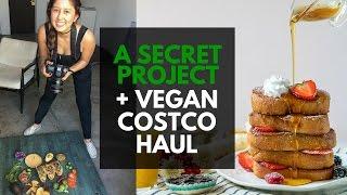 Sneak Peak of a New Project + Vegan Costco Haul | VLOGMAS Day 2
